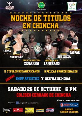 afiche de boxeo internacional Chincha