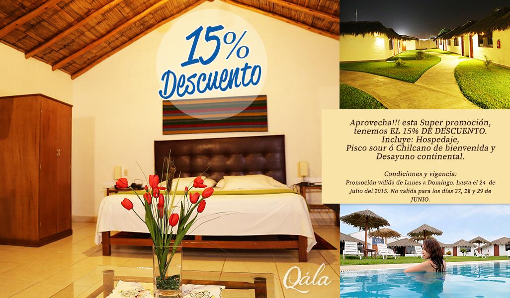 promocion en hotel qala hoteles en chincha